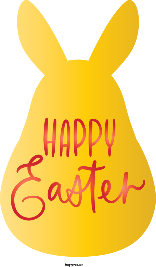 Transparent Easter Day Yellow Text Font For Happy Easter Day for Easter Day