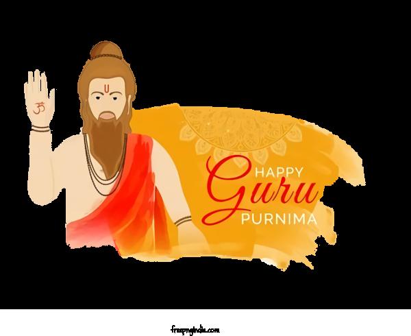 Transparent Guru Purnima Cartoon Guru Logo For Vyasa Purnima for Guru Purnima