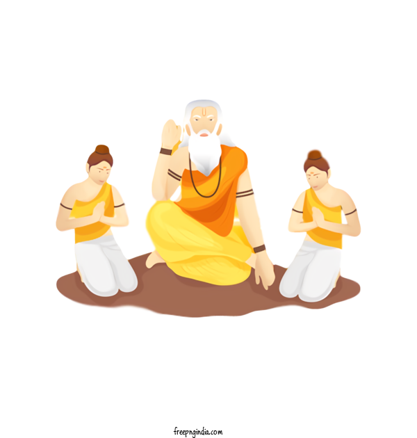 Transparent Guru Purnima Physical Fitness Meditation Sitting For Vyasa Purnima for Guru Purnima