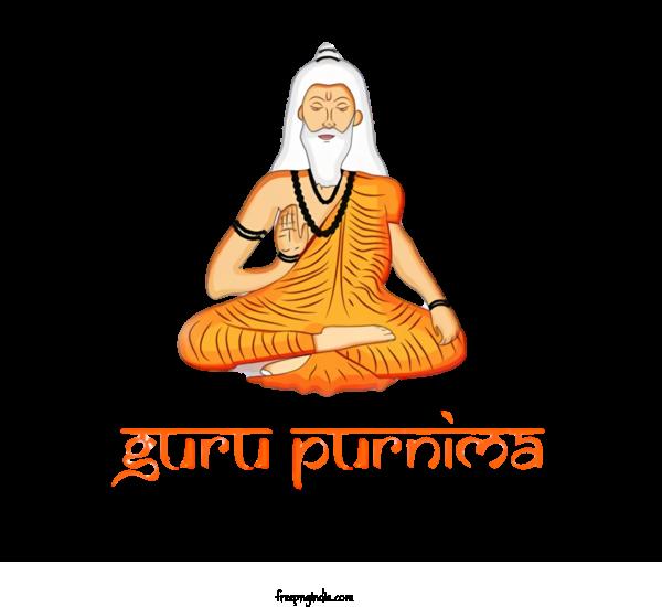 Transparent Guru Purnima Yoga Guru Physical Fitness For Vyasa Purnima for Guru Purnima