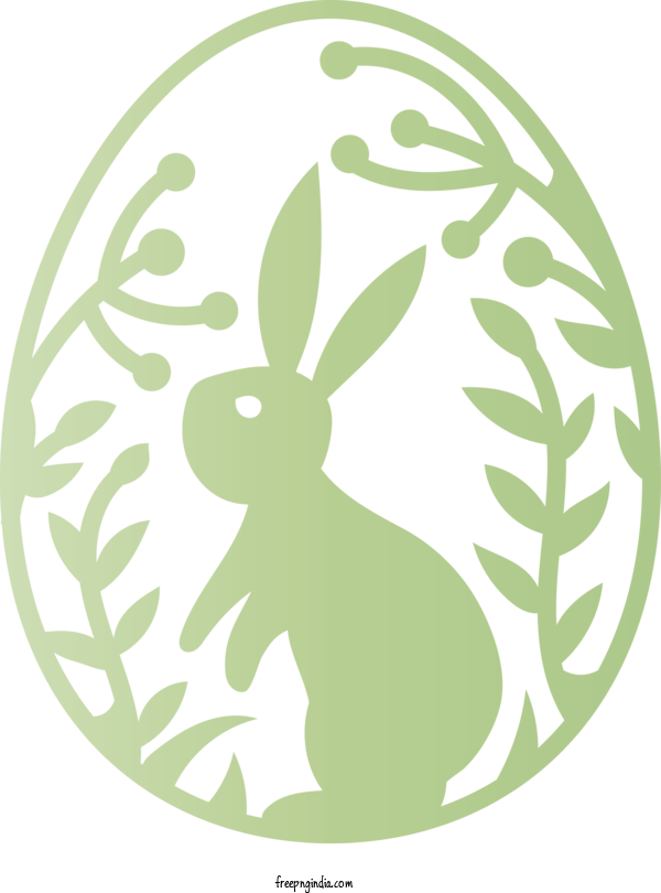 Transparent Easter Day Green Rabbit Hare For Happy Easter Day for Easter Day